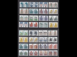 Bund ex 1339 - 1938 waagerechte Paare SWK 36 Werte postfrisch