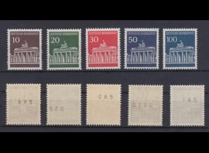 Bund 506-510 v RM glatte Gummierung mit Nr. Brandenburger Tor 5 Werte ** /1