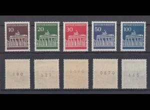 Bund 506-510 v RM glatte Gummierung mit Nr. Brandenburger Tor 5 Werte ** /2