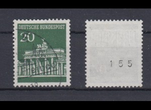 Bund 507 v RM ungerade Nummer Brandenburger Tor 20 Pf gestempelt