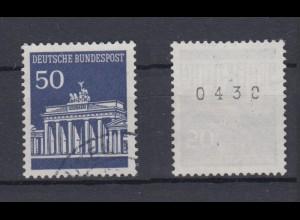 Bund 509 v RM ungerade Nummer Brandenburger Tor 50 Pf gestempelt