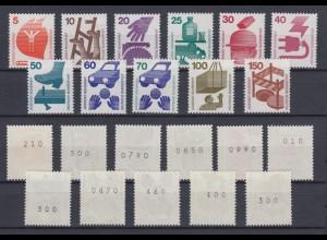 Bund ex 694-773 RA EZM mit geraden schwarzen Nummern Unfall 11 Werte postfrisch