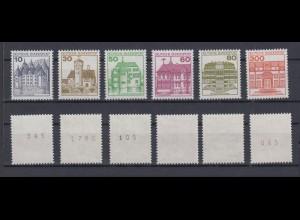 Bund ex 913AII -1143AII Burgen und Schlösser Letterset teils mit Nummer **