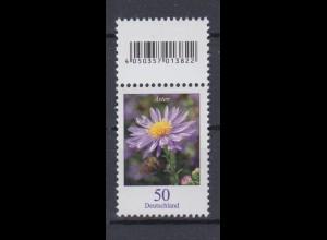 Bund 2463 EAN-Code oben Herbstaster 50 Cent postfrisch