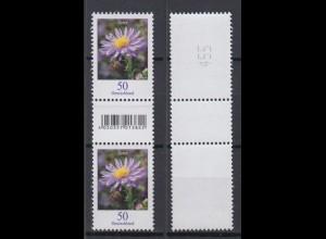 Bund 2463 EAN-Code mit Lila Strich unger. Nr Zwischenstegpaar Herbstaster 50 C**