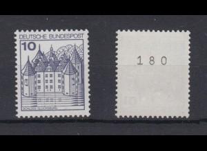 Bund 913 A I RM gerade Nr. Burgen+Schlösser 10 Pf postfrisch