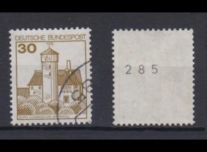 Bund 914 I RM mit gerade Nummer Burgen+Schlösser (I) 30 Pf gestempelt