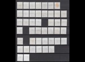 Bund ex 1347-2301 RM mit rückseitiger Nr. Sehenswürdigkeiten 44 Werte gestempelt