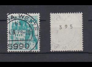 Bund 915 RM ungerade Nummer Burgen+Schlösser 40 Pf gestempelt