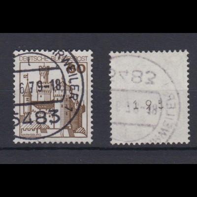 Bund 917 RM mit ungerader Nr. Burgen + Schlösser 60 Pf gestempelt /1