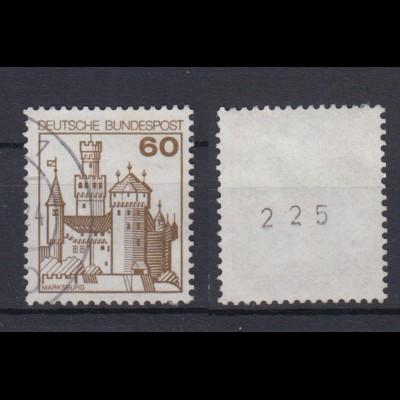 Bund 917 RM mit ungerader Nr. Burgen + Schlösser 60 Pf gestempelt /4