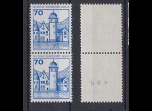 Bund 918 RM senkrechtes Paar mit gerader Nummer B + S 70 Pf postfrisch