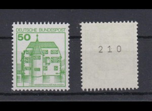 Bund 1038 RM mit gerader Nummer B+S 50 Pf postfrisch