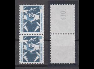 Bund 1347 A RM senkrechtes Paar mit gerader neuer Nummer SWK 10 Pf postfrisch