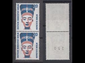 Bund 1398 A RM senkrechtes Paar mit gerader Nummer SWK 20 Pf postfrisch