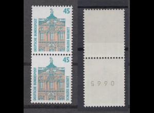 Bund 1468 RM senkrechtes Paar mit ungerader 4stelliger Nummer SWK 45 Pf **