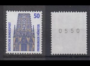 Bund 1340 A RM mit gerader 4stelliger Nummer SWK 50 Pf postfrisch