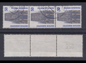 Bund 1340 A RM 3er Streifen mit ungerader neuer Nummer SWK 50 Pf gestempelt