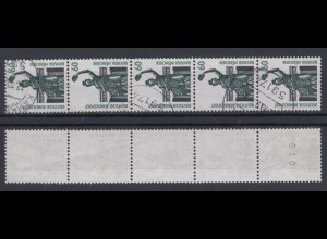 Bund 1341 RM 5er Streifen mit gerader Nummer SWK 60 Pf gestempelt