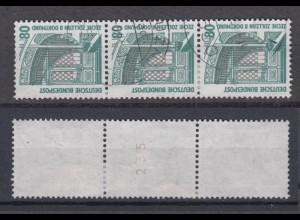 Bund 1342 A RM 3er Streifen mit ungerader Nummer SWK 80 Pf gestempelt