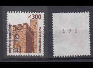 Bund 1348 A RM mit gerader Nummer SWK 300 Pf gestempelt