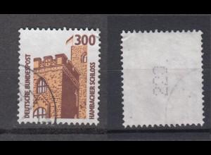 Bund 1348 A Rollenmarke mit senkrechter gerader Nummer SWK 300 Pf gestempelt /1