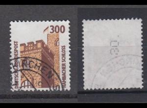 Bund 1348 A Rollenmarke mit senkrechter gerader Nummer SWK 300 Pf gestempelt /2