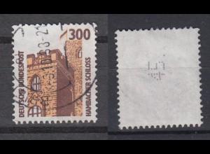 Bund 1348 A RM mit senkrechter ungerader Nummer SWK 300 Pf gestempelt /2