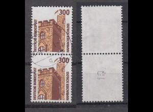 Bund 1348 A RM senkrechtes Paar mit gerader neuer Nummer SWK 300 Pf gestempelt/2