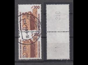 Bund 1348 A RM senkrechtes Paar mit gerader neuer Nummer SWK 300 Pf gestempelt/3