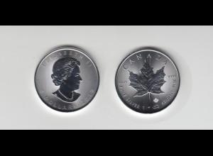 Silbermünze 1 OZ Kanada 5 Dollar 2019 Maple Leaf