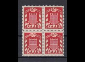 Saarland D 33 4er Block Dienstmarke 10 C postfrisch