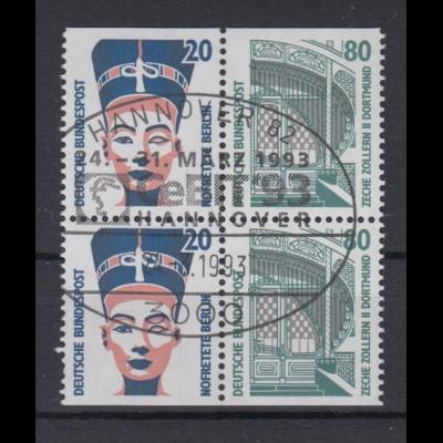 Bund Heftchenblatt 32 SWK 20 Pf + 80 Pf 1398,1342 gestempelt Hannover