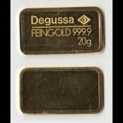 Goldbarren Degussa 20 Gramm