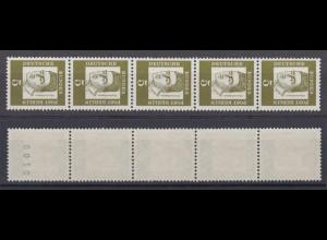Berlin 199 RM 5er Streifen mit gerader Nummer Bedeutende Deutsche 5 Pf **