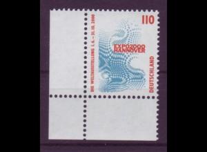 Bund 2009 Eckrand links unten SWK 110 Pf postfrisch