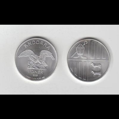 Silbermünze 1 OZ Andorra 2008