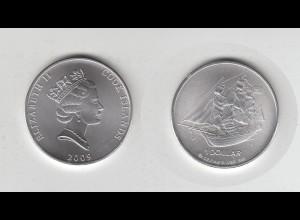 Silbermünze 1 OZ Cook Island Bounty Schiff Segelschiff 1 Dollar 2009