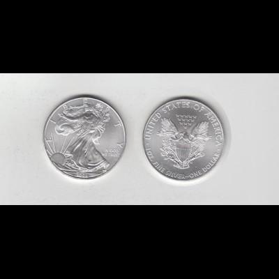 Silbermünze 1 OZ USA Liberty 1 Dollar 2008