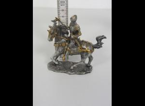 Massiv Zinn Figur Ritter auf Pferd +Schwert La Balestra made italy Veronese 2006