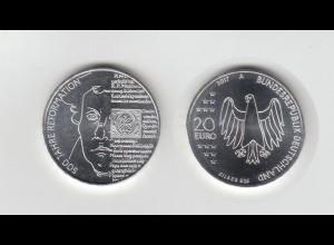 Silbermünze 20 Euro 2017 500 Jahre Reformation stempelglanz