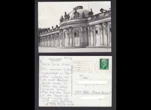 Ansichtskarte Potsdam Sanssouci Schloß Sanssouci mit Stempel Die Postleitzahl
