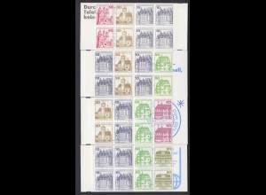 Berlin Markenheftchen 10, 11, 12 + 13 Burgen und Schlösser postfrisch