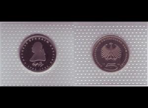 Münze 5 DM 1981 J Gotthold Ephraim Lessing polierte Platte /32