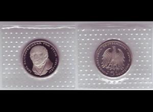 Münze 5 DM 1981 G Reichsfreiherr vom Stein polierte Platte /33