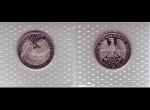 Münze 5 DM 1984 D Deutscher Zollverein polierte Platte /38