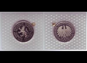 Münze 5 DM 1986 D Universität Heidelberg polierte Platte /42