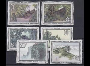 China 1978-1983 Landschaften 4 F, 8 F, 10 F, 20 F + 80 F postfrisch