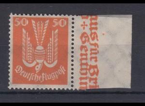 Deutsches Reich 347 x mit Seitenrand Flugpostmarken Holztaube 50 Pf postfrisch