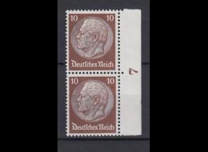 Deutsches Reich 486 Seitenrand im Paar Paul von Hindenburg 10 Pf postfrisch